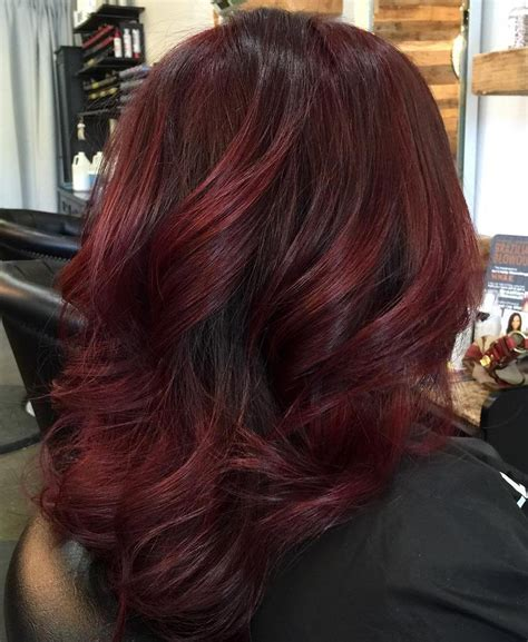 low lights on black shoulder length hair 50 shades of burgundy hair dark red maroon red wine