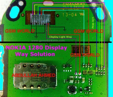 nokia 1280 white display gsm solution fully computerised mobile reparing nokia1280