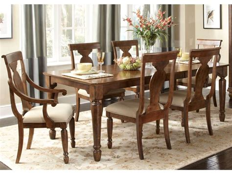 Rustic Cherry Rectangular Table Formal Dining Room Set | rustic cherry rectangular table formal dining room set