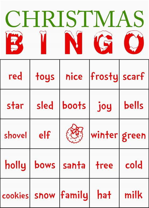 printable christmas bingo game cards printable christmas bingo new calendar template site