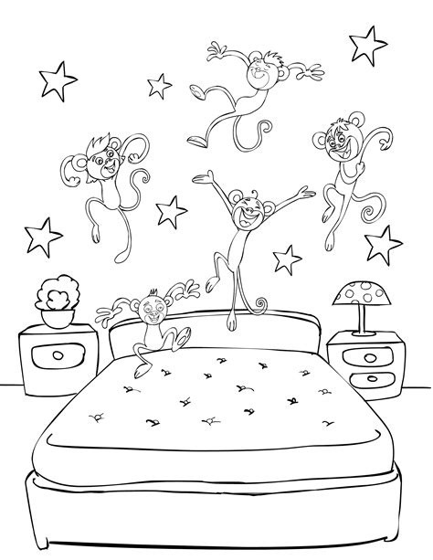 little monkey coloring pages five little monkeys coloring page for pk pinterest
