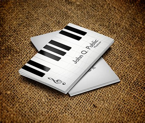 business card template musician 20 fantastic business cards for musicians naldz graphics