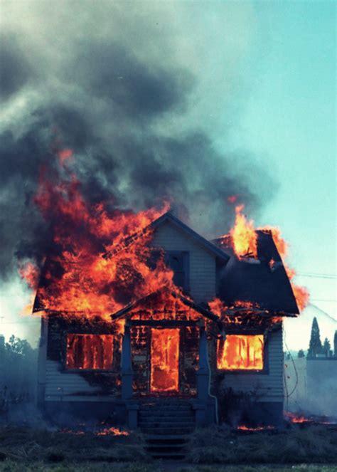 photography burning house