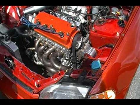 d16y7 all motor d16z6 vtec mini me startup and revving doovi