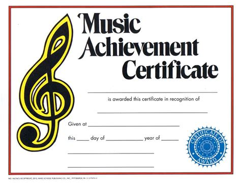 templates for music certificates buy music achievement certificate awards trophies