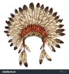 Feathers Tribe Hat Vector Hat Chief » Ideas Home Design