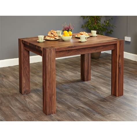 Small 4 Seater Dining Table Small Dining Table 4 Seater Baumhaus Shiro Walnut Cdr04a