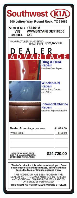 Addendum System For Car Dealers Dealeraddendums Inc Dealer Addendum Template