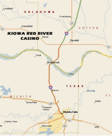texas casinos map kiowa river casino map