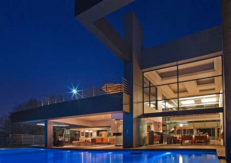 beautiful architecture house with pool in johannesburg
