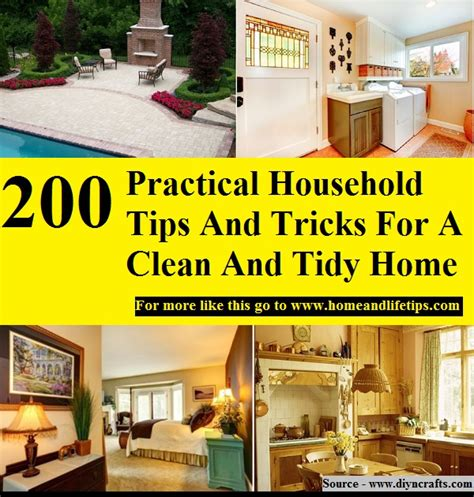 tidy home cleaning 200 practical household tips and tricks for a clean and