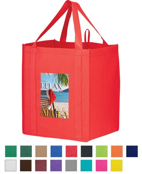 Shopping Bag Cetak Fullcolour color market tote personalized reusable color grocery tote custom imprinted tote