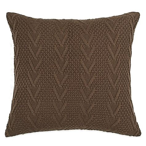 cable knit throw pillow buy flatiron home cable knit square throw pillow in brown