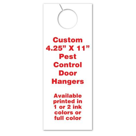 4 25 x 11 door hanger template pest door hangers