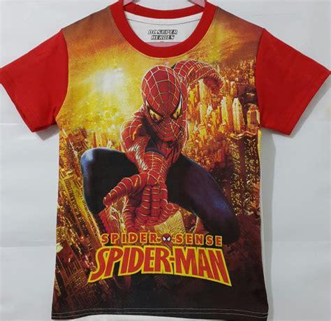 Baju Anak Setelan Spider By Luluku grosir kaos anak karakter fullprint murah