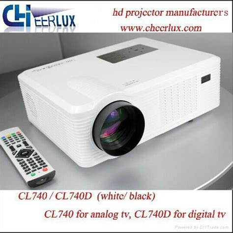Lu Projector Led cheerlux led projector with digital tv tuner connect dvd