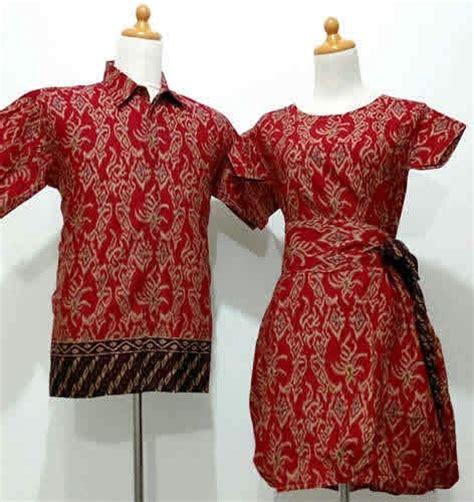 Dress Batik Merah Marun gambar batik pasangan modern terbaik dan terbagus