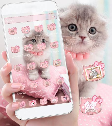 kitty kat themes download pink cute kitty cat theme for pc