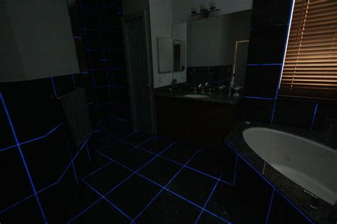 master bath glow in the dark grout eclectic miami by