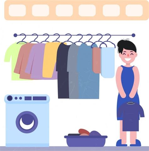 washing colored clothes vector for free about 5 334 vector