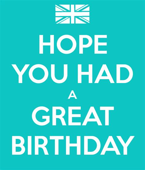 hope    great birthday poster lucy  calm  matic