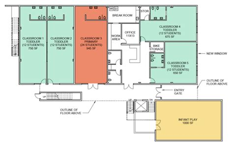 Floor Plan For Preschool Emeryville Preschool Campus Leport Schools