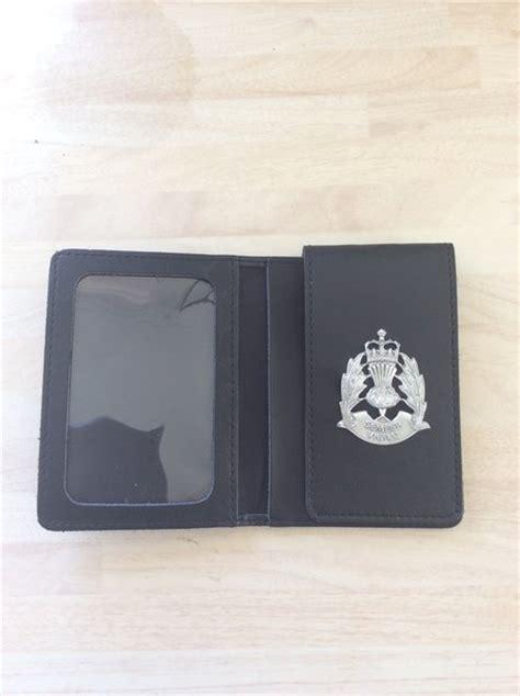 Search Warrant Scotland Scottish Badged Warrant Card Wallet Enforcement Supplies