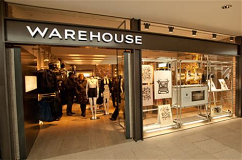 warehouse clothes shop shopping in city centre leeds