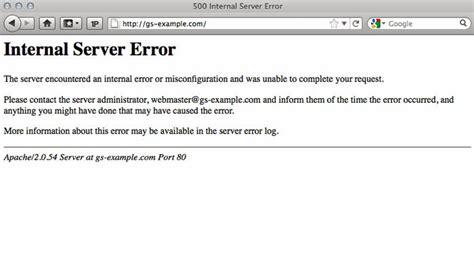 500 errore interno server second post 500 server error i m back