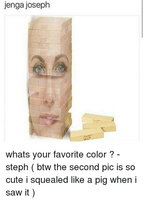 Whats Your Favorite Color by Jenga Joseph Whats Your Favorite Color Steph Btw The
