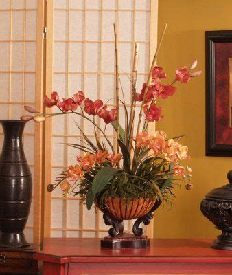 mini red cymbidium silk orchids in asian planter o140 1000 images about silk orchids tropical arrangements on