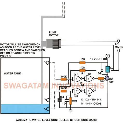 water tank level controller circuit diagram this low cost water level controller circuit when built