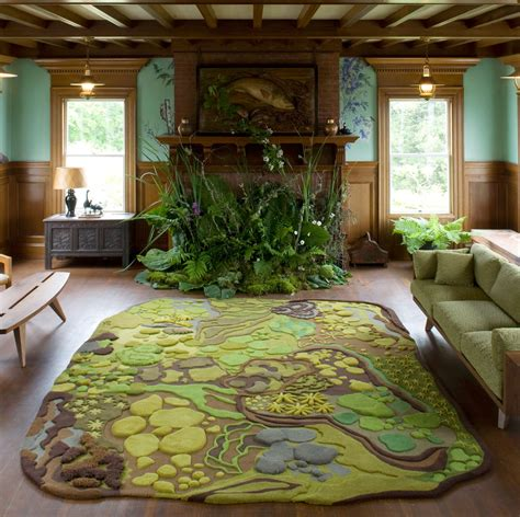 forest themed living room a hiker s rug gregory han