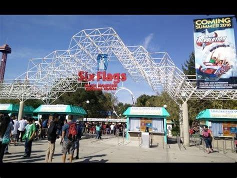 theme park los angeles six flags magic mountain amusement park los angeles ca