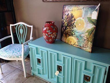 1970s buffet updated with paint restore decor