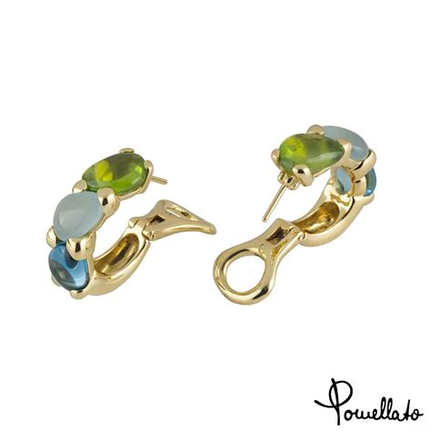 pomellato earrings pomellato 18k yellow gold multi gemstone saffi earrings