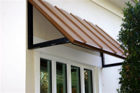 Metal Awning by Standing Seam Metal Awning Copper Barfield Fence
