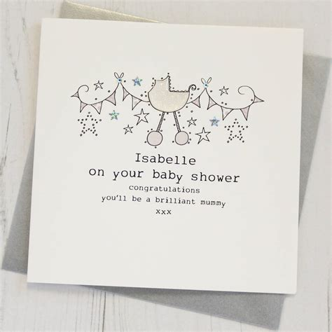 cards on the personalised baby shower card by eggbert daisy