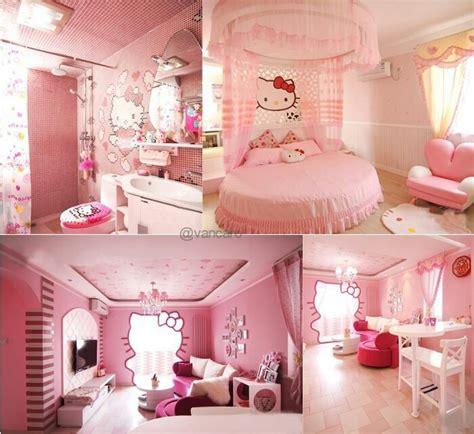 hello kitty bedroom for girls hello kity room decor pinterest hello kitty rooms