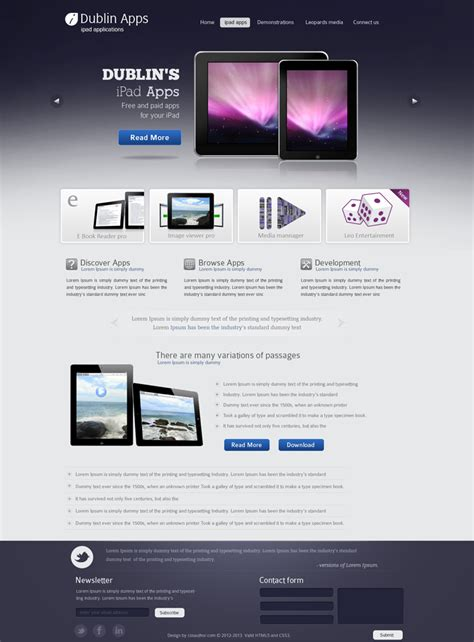 templates for web design professional website design template for ipad and iphone