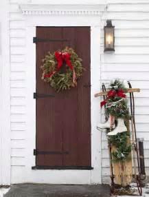 porta di legno porta d ingresso natalizia