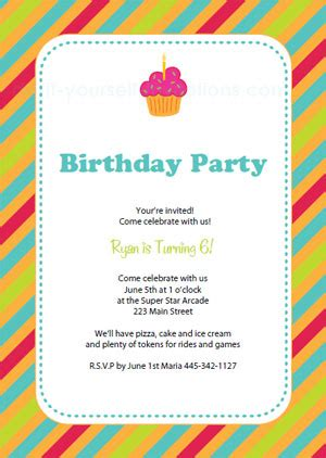 Design Your Own Home Online Easy by Free Printable Birthday Party Invitation Templates