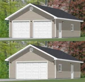 24x36 Garage Plans 24x36 2 Car Garage 24x36g1 864 Sq Ft Excellent