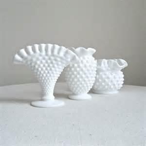 Fenton Milk Glass Vases Three Fenton Milk Glass Mini Vases Instant By
