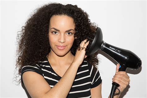 Dryer Curly Hair how to elongate curls without a diffuser curls understood