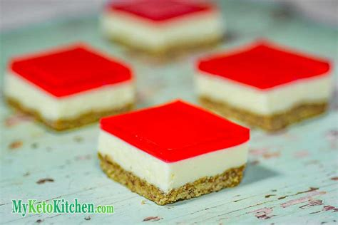 Dessert Slice low carb jello slice sugar free recipe