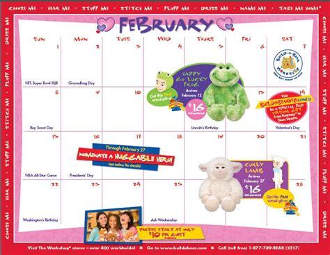 Build A Calendar Build A February Calendar 2009