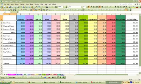 profit and loss statement for self employed and yearly profit loss