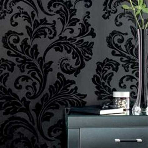 black and white damask wallpaper uk feature wallpaper uk 2017 grasscloth wallpaper