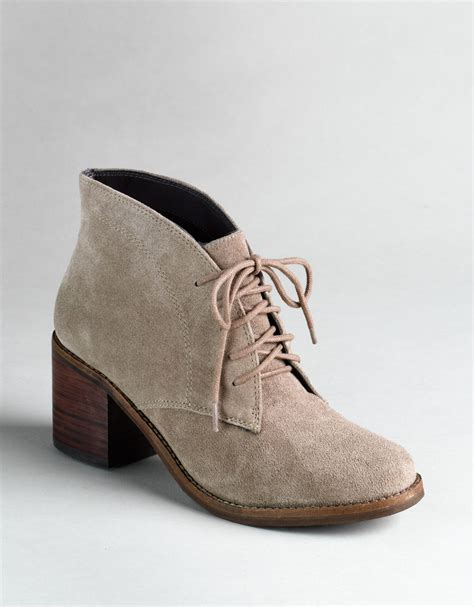 dolce vita suede lace up dv by dolce vita aisha lace up boots in beige taupe suede